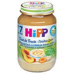 HIPP Био Бебешки плодов дует/праскови, кайсии и извара/7м+ 160 гр.